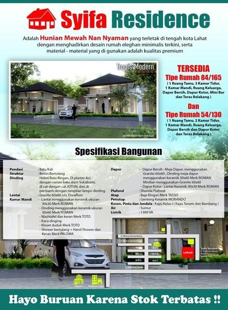 syifa residence Lahat Sumatera Selatan